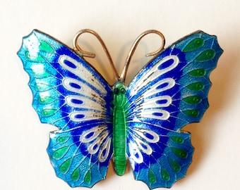 Enamel Butterfly Brooch