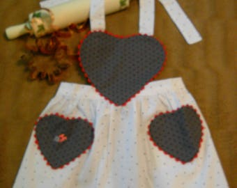 Polka Dot Children's Apron with Ladybug