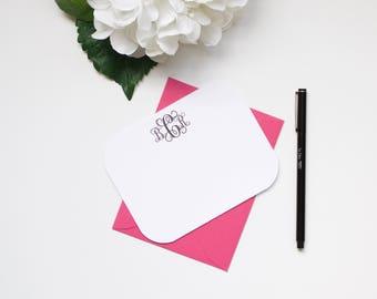 Personalized Stationery, Monogram Stationery, Custom Stationery, Flat Notecards