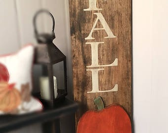 Hello Fall Porch Sign w/ 3D Pumpkin