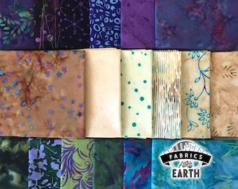 Merlot at the Beach - Batik 18 Fat Quarter Bundle - Quilting Fabric