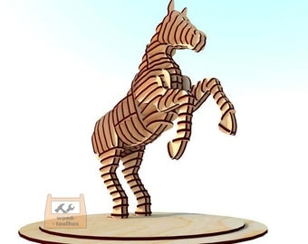 Horse 3d-puzzle - Digital files