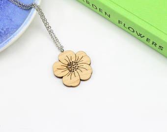Buttercup Necklace | Laser Cut Nature & Flower Jewellery
