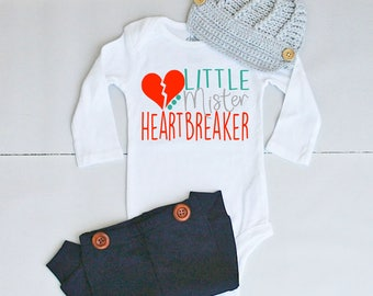 Baby Boy Valentines Outfit - Valentines Outfit - Valentines Outfit for Baby - Boy Valentine's Day Outfit - Baby Valentines Shirt for Boy