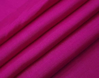 "Magenta Shantug Silk Dupioni Fabric, Dressmaking Fabric, Sewing Crafts, 43"" Inch Wide Fabric By The Yard ZSH3D"