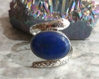 Lapis Snake Ring, Size 6