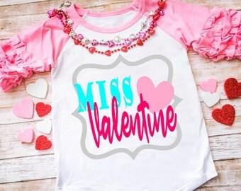 Little Miss Valentine Svg | Etsy