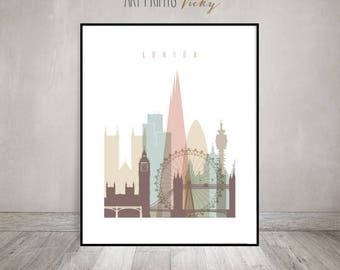 Charmant London Wall Art Print, London Skyline, London Poster, Housewarming Gift,  Travel Decor
