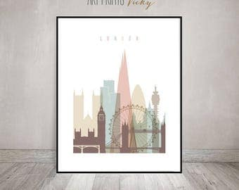 Merveilleux London Wall Art Print, London Skyline, London Poster, Housewarming Gift,  Travel Decor