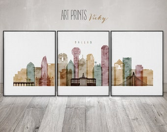 Dallas 3 set of Prints Posters by ArtPrintsVicky