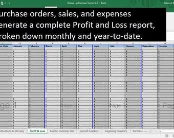Deluxe Lip Business Tracker - U.S. VERSION