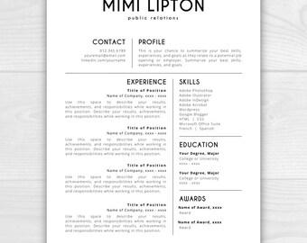 Resume Template | CV Template | Resume Template Word | Resume Design | Free  Cover Letter