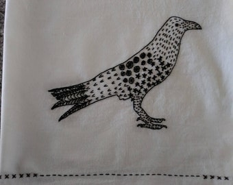Crow Embroidery Pattern