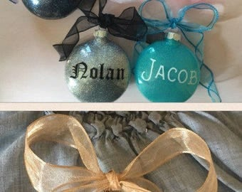 Glitter ornaments  Etsy