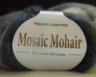 Filatura Lanarota Mosaic Mohair Colour #31196 Greys ~ 50 grams/ 215 yards ~ Knitting ~ Crochet
