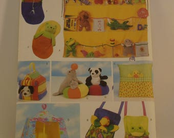 Butterick Pattern 5507 Bean Bag Animal Pals Accessories One Size 7 Designs