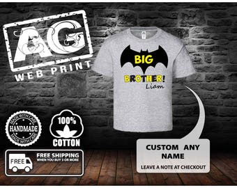 Big Brother Shirt Big Brother Announcement Shirt Baby Boy Sibling Shirt Big Brother Little Brother Shirt Big Brother Gift