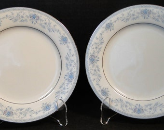 "TWO Noritake Blue Hill Bread Plates 2482 6 1/4"" Set of 2 EXCELLENT!"
