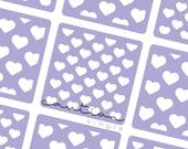 Polka Hearts Nail Stencil - Nail Stencil for Nail Art