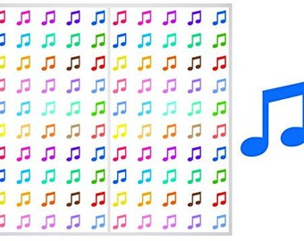 FREE SHIPPING**2 Sheets of Music Notes Stickers for Planners, Notebooks and Journals, ST042