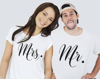 Camisetas Mrs and Mr, camisetas San Valentín, camisetas pareja, camisetas señor y señora, camisetas estampadas San Valentín, día enamorados