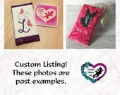 Phone case quilted phone case applique phone case phone pouch fabric phone case bespoke design  gifts for her personalised gift