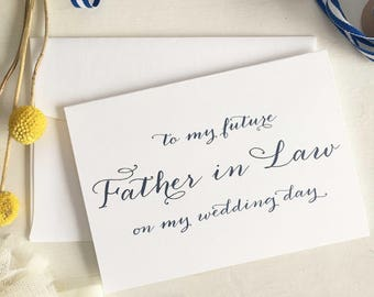 Father In Law Card, Gift For Father of the Bride, Gift For Father In Law Gift, Father of The Groom Card, Father In Law Wedding Gift, Navy