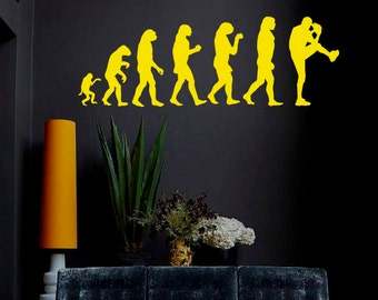 Wall Decal Human Evolution Anatomy Man Cave Evolve Exrtreme Sports Baseball Club Logo Children Room Vinyl Sticker Home Decor Murals A485