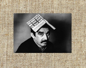 Gabriel Garcia Marquez photograph,  black and white photo print, vintage photograph,legendary writers, iconic artists, gift for him or her