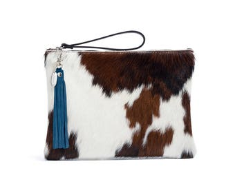 Oversized Clutch Bag | Cowhide Clutch | Made in England