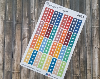 Flag To Do Reminder Check Planner Stickers  Functional Planning Multi Color Matte Sticker Paper #S034