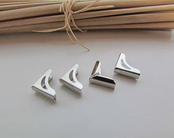 12 corners for book silver metal to protect book or album - 1 x 1 x 0.2 cm - 68.51