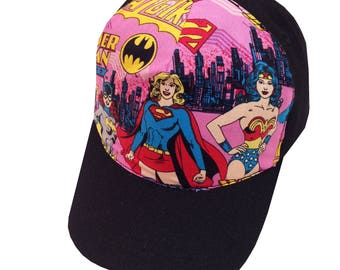 Girls Super Hero Ball Cap/Toddler Size