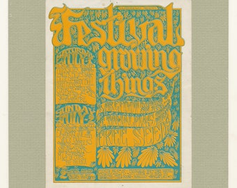 Festival of Growing Things Rock Concert Poster