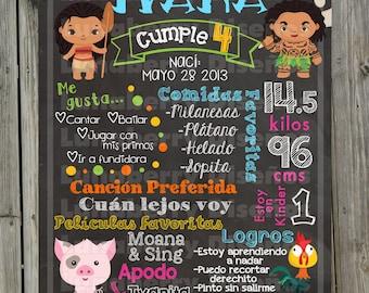 Chalkboard/Birthday Slate moana birthday Chalkboard/moana birthday sign