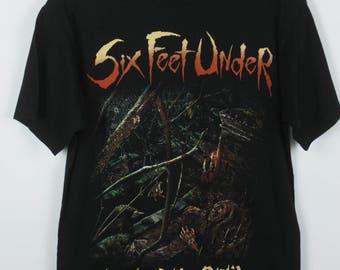 Vintage shirt, Six feet under, Band Shirt, Tour shirt, black