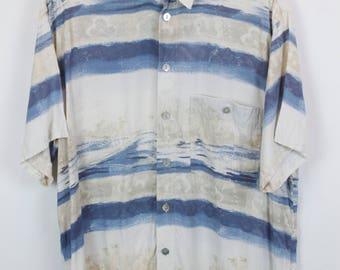 Vintage shirt, 90s clothing, shirt 90s, short sleeves, oversized