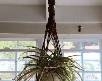 """Vintage Boho Macrame Plant Hanger Jute 47"""""""