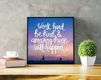 Inspiring Quote, Motivational Quote Print, Art Print, Typography Poster