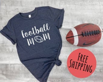 football mom shirt, womens football shirt, womens sports shirt, game day shirt, cute football shirt, football fans, gift idea, gift woman