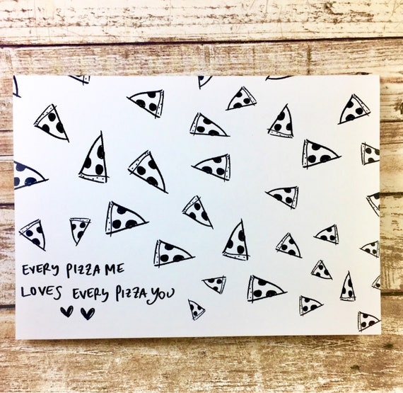 Anniversary card, pizza love card, Pizza pun card, pizza my heart, anniversary card, romantic card, valentines day card, Paper Anniversary