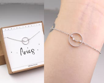 Aries bracelet, horoscope bracelet, constellation, Aries jewelry, zodiac bracelet, horoscope jewelry, sister birthday gift, zodiac jewelry