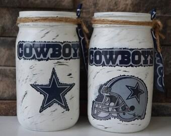 Cowoys Decorative Mason Jar