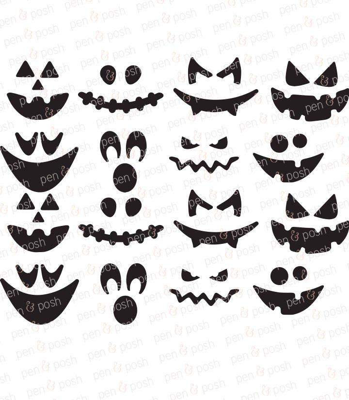 Pumpkin Face Svg Pumpkin Faces Pumpkin Pumpkin Clipart