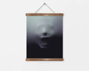 Creepy halloween decor - Halloween wall art - Halloween decorations - Creepy face screaming - Halloween art prints - Halloween decor