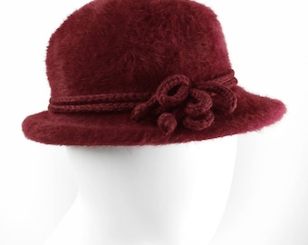Red silky soft vintage Hat