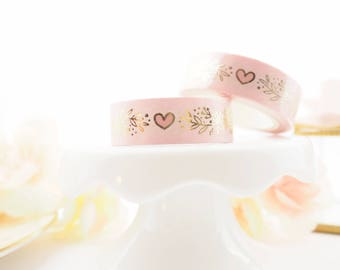 Heart Garland Gold foil Washi Tape