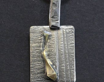 Sterling Silver Etched Pendant (021618-001)