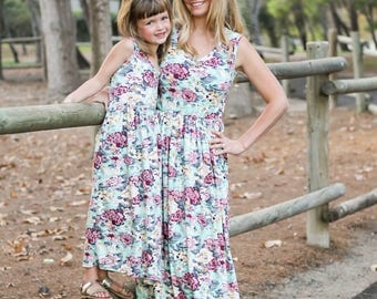 fall, mommy and me outfits, mother daughter, matching outfits, mommy and me dress, mommy and me maxi dress, matching dresses,mom and baby