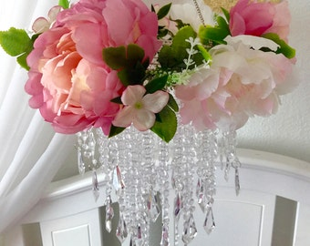 Baby Mobile, Party Chandelier Peony Princess